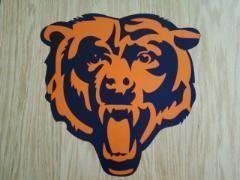 Chicago Bears Logo Sticker Decals Cornhole 12 set of 2
