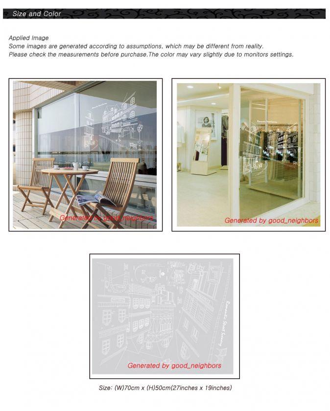 STREE SCENE REMOVABLE WINDOW WALL STICKER DECAL KR38