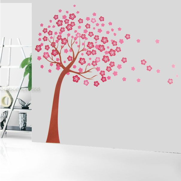 Blossom Flower Tree Vinyl Wall Art Decal Stickers Removable
