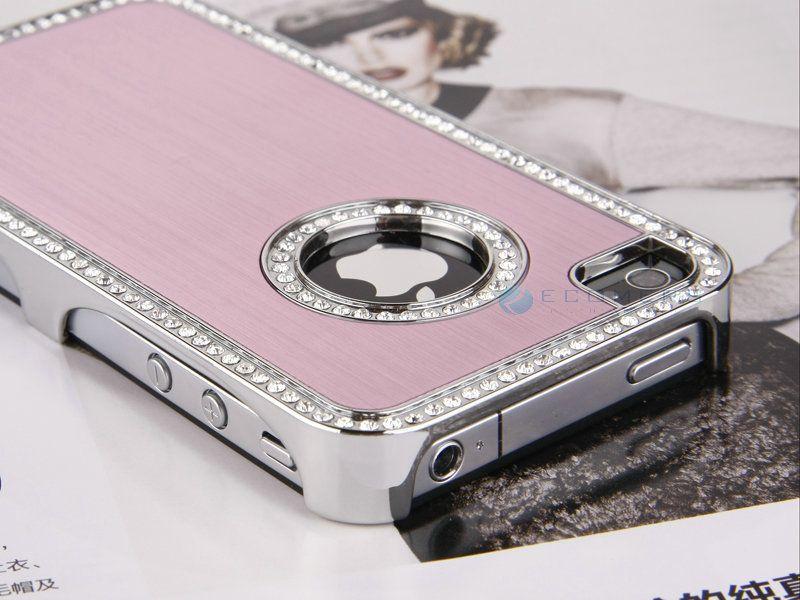 Luxury Bling Diamond Aluminium Hard Case Cover F Verizon iPhone 4S 4G