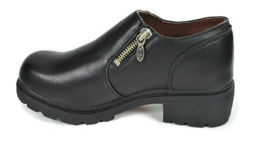 HARLEY DAVIDSON Siren Black Leather Casual Dress Shoes Women Size